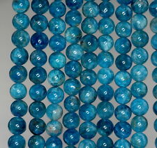 5MM APATITE GEMSTONE GRADE A  ROUND 5MM LOOSE BEADS 15.5""