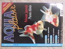 $$ Revue Aqua plaisir N°34 Poissons japonais  Installation  Coraux  Accidents