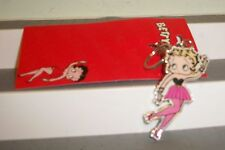 BETTY BOOP KEYCHAIN  NEW SEXY BLONDE BOMBSHELL N PINK  METAL 3 INCH STOCKING