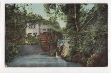 Water Wheel In Groudle Glen IOM 1907 Postcard 131a