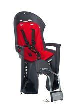 Hamax Fahrrad Kindersitz Smiley grau Bezug rot Fahrradsitz abschließbar NEU