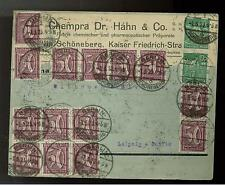 1923 Berlin Germany Inflation cover 40 # 143 Commercial Chempra Dr. Hahn