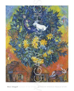 "CHAGALL MARC - AUTUMN IN THE VILLAGE, Art Print Poster    32"" x 26"""