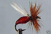 10 x Mouche de peche Sèche Fourmi Rouge F.  H12/14/16/18 red ant french fly