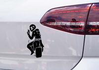 Motorrad Aufkleber peace Zeichen Auto Tuning Sticker Motorsport Biker inside JDM