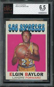 1971 Topps Basketball #10 Elgin Baylor BVG 6.5