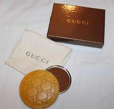 AUTH Gucci Women Compact Mirror Guccissima Leather Csae