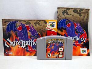 Ogre Battle 64 (Nintendo 64 | N64) Authentic Complete in Box CIB Tested Rare