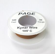 100' Page 30AWG BROWN KYNAR Insulated Wire Wrap Wire 100 Foot Roll ~ Made In USA