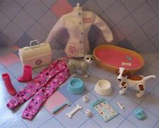 1996 BARBIE I Can Be A Pet Vet Dr doctor Dog Cat Clothes Bed Sounds Meow/Barks
