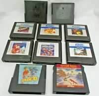 LOT Of 10 ATARI 5200 Game Cartridges Loose Cart With Some Missing Labels