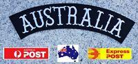 """Australia"" Top Rocker Back Patch Biker Harley Davidson Vest Iron Sew On"