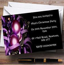 Violeta Adornos Personalizados Fiesta De Navidad Invitaciones