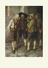 Andreas Hofer Lagebesprechung um 1901 von Franz Defregger K&K Faksimile 28 Tirol