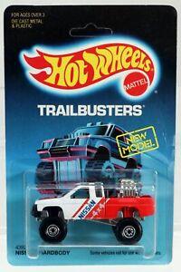 Hot Wheels Nissan Hardbody Trailbusters Series #4392 NRFP 1986 White/Red 1:64