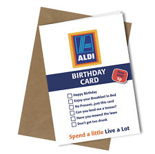 #245 Greetings Card ALDI VALUE Comedy Rude Funny Humour Birthday Card