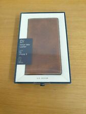 D7 Italian Wax Leather Case for iPhone X  - Braun