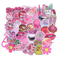 50Pcs Kawaii Pink Fun Girls Stickers Toys Guitar Car Suitcase Laptop Dec I2