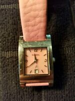 Women's Fossil F2 Watch ES-9757 All Stainless Steel Mother Of Pearl Dial Pink B.