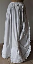 vêtement ancien - Authentique jupon XIXème - broderie anglaise et dentelle