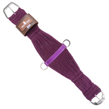 Classic Equine Horse 100% Mohair Roper Cinch Roller Buckle Soft 27 Strand Purple