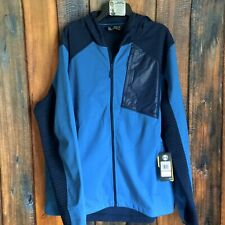 NEW Mens UNDER ARMOUR ColdGear Storm Fitted Treyk Hoodie Hooded Jacket Blue 3XL
