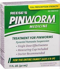 PINWORM MEDICINE REESES, PYRANTEL PAMOATE SUSPENSION - 1 OZ