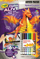 Crayola Colour Alive (Color Alive) - Mythical Creatures (Colouring Book)