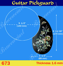 Free Shipping, Guitar Part - Rosewood Pickguard w/ Mop Art Inlay (G-673-5)