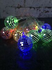 Tiger Disco Ball String Fairy Lights Battery Powered New Years Party LED Lights