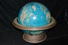 "Vintage CRAMS 16"" Physical / Political Terrestrial Globe Airliner Speed Base Map"