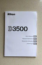 Nikon D3500 Instruction Owner User's Manual Book - New