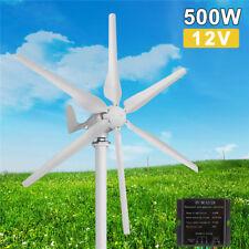 500W 12V 6 Lames Générateur de Vent Aérogénérateur Turbine éolienne + Contrôle