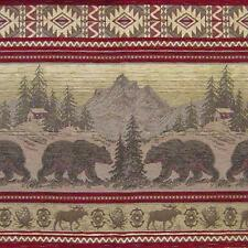 BEAR RUN SAND UPHOLSTERY BEAR FABRIC MOUNTAIN LODGE CABIN RUSTIC BEARS TAPESTRY