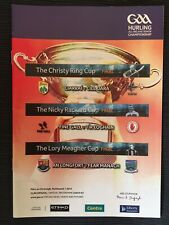 2014 KERRY v KILDARE Hurling Christy Ring Final Programme + Nicky Rackard Final