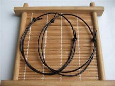 5 x Black Leather Cord Lucky Bracelet Anklet Adjustable For Men Women Surf