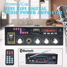 600W CH Bluetooth Power Audio Amplifier Hi-Fi AMP MP3 FM USB SD 220/12V Car Home
