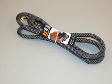 BlueWater Ropes K9 Cord® Dynamic Climbing Rope Dog Leash - 6' - Black/Slate