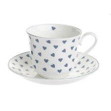 New Nina Campbell Blue Heart Chatsworth Tea Cup & Saucer - Made in England