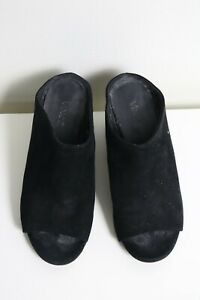 """Size 36. Ladies """"Vince"""" Stylish Black Wedge Heels. Great Condition.Bargain Price"""