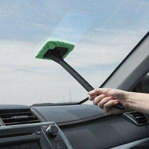 Car Windshield Glass Window Wonder Cleaner Microfiber Cloth Pivot Head Handle