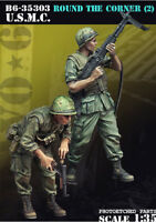 1/35 Scale Resin Figure Model Kit USMC - Round The Corner (2) B6-35303