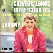 JOHNNY HALLYDAY - CHEVEUX LONGS IDEES COURTES - CD SINGLE REPLICA DU SUPER 45 T
