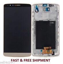 LG G3 D850 D851 D852 VS985 LS990 LCD Digitizer+Touch Screen Assembly Frame Gold