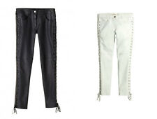 Isabel Marant pour H&M Black White Leather Trousers UK 6 8 14 EU 32 34 40 BNWT