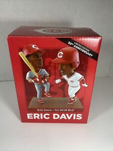 Cincinnati Reds Eric Davis 30/30 Bobblehead 30th Anniversary New in box SGA