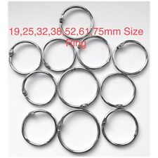 More details for metal hinged ring book binder craft photo album split keyring scrapbook keychain