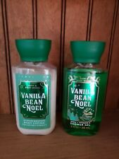 Lot 2 Vanilla Bean Noel Body Lotion & Shower Gel, 3 oz. Size, Bath & Body Works