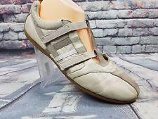 Women's Diesel mailor shoes beige Leather Sneakers  Hook & Loop Size 10 Us