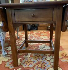 Ethan Allen Side Table Country Craftsman Drop Leaf Solid Pine Wood